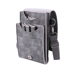 Kapsel Set Voeg Tas Salon Styling Tool Multifunctionele Haar Schaar Lederen Case Kapper Packet Salon Holster Bag