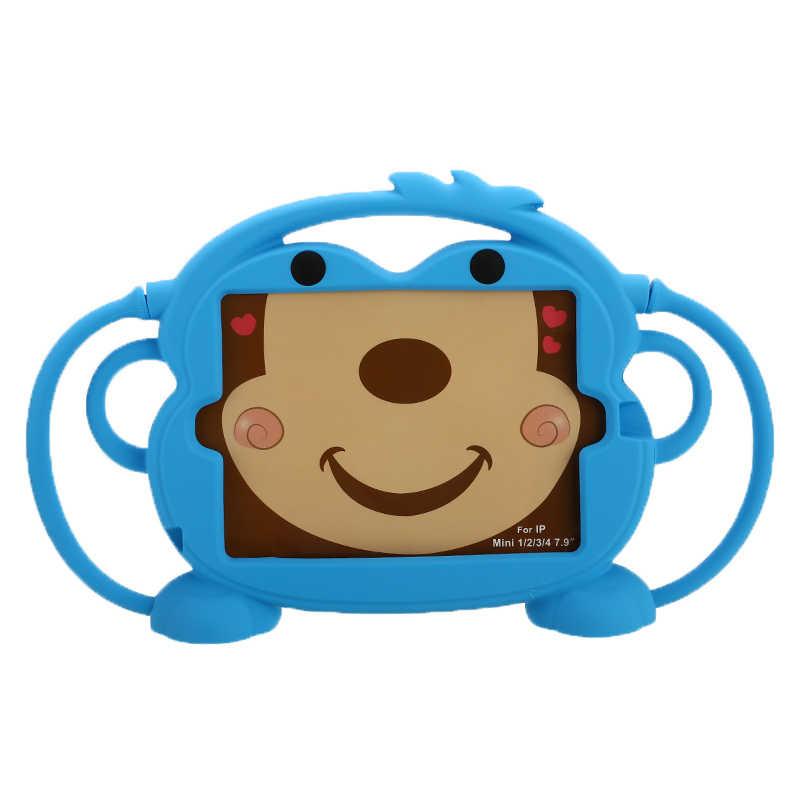 """7.9 """"سيليكون للصدمات تحمل حافظة لجهاز ipad البسيطة 1/2/3/4/5 حماية للصدمات قابل للغسل الوقوف حامل جراب كمبيوتر لوحي للأطفال"""