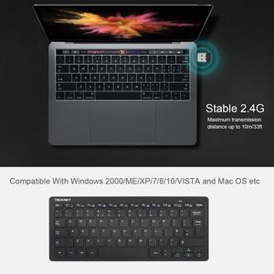 Image 2 - TeckNet Ultra Slim 2.4GHz Cordless Keyboard Wireless Whisper Quiet UK Keyboard For Windows10/8/7/Vista UK Layout Keyboard Design