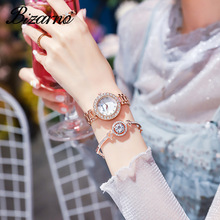 Luxury Diamond Women Quartz Watches Brand Rose Gold Crystal Design Bracelet