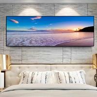 Paisaje de playa de mar Natural HD, pintura al óleo sobre lienzo, carteles e impresiones, imágenes artísticas de pared para sala de estar
