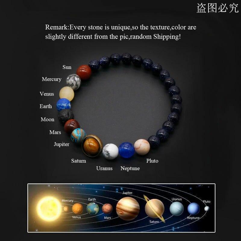2020 universo sistema solare bracciale donna pietra naturale otto pianeti bracciale uomo migliori amici regalo per lui regalo per lei MY8 2