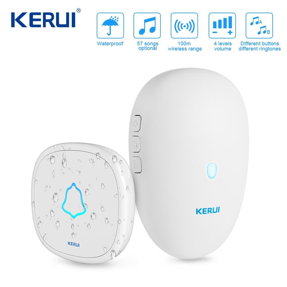 KERUI M521 Wireless Doorbell 57 Music Song 300M Waterproof Button Smart Home Door Bell Chime Ring Outdoor Doorbell
