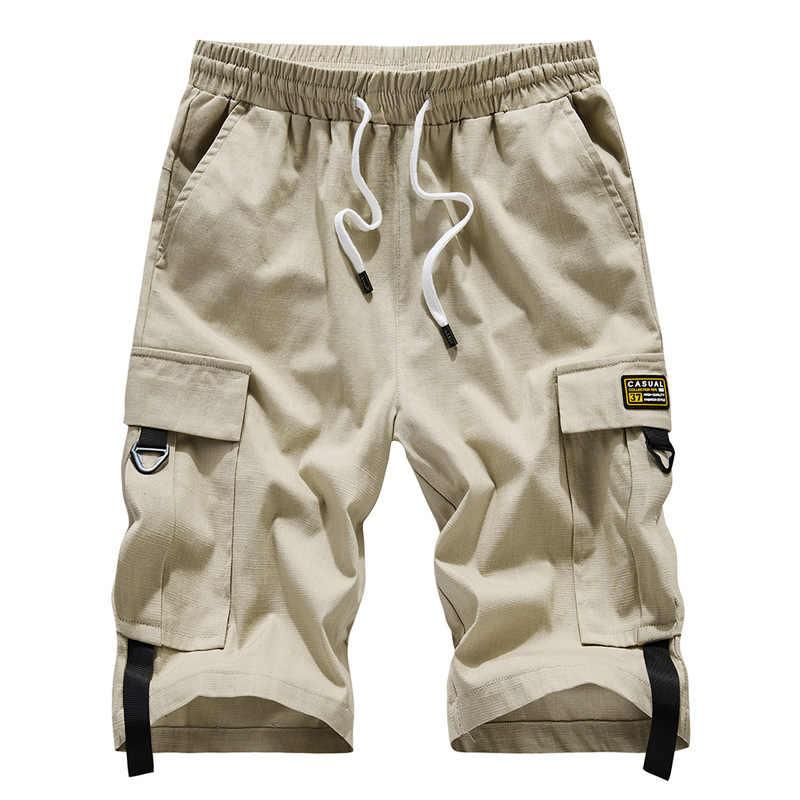 Jeans Hommes Short Standard Décontracté Été Ceinture Demi Pantalons Taille