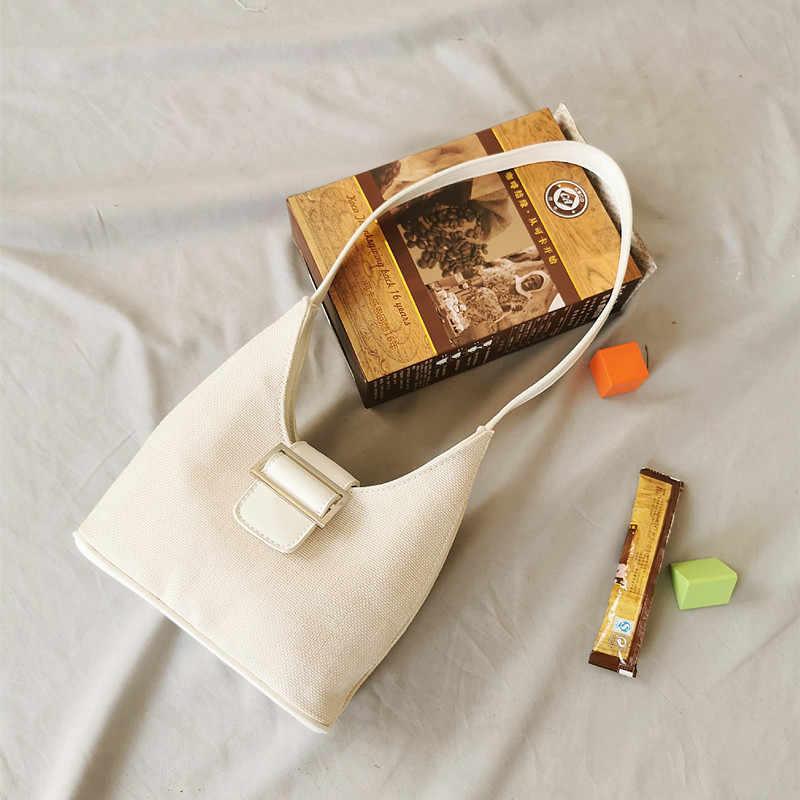 Bolso de mano de mujer de lona a rayas de moda bolso de muñeca de playa de alta calidad de retazos bolsos de hombro Bolsos De Mujer carteras