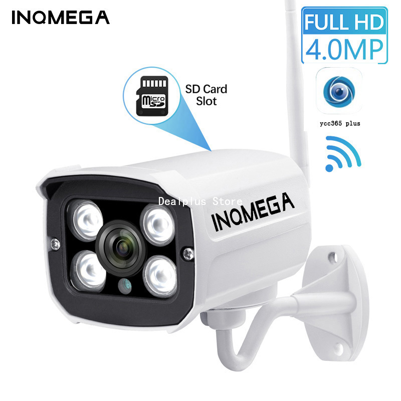 INQMEGA  4M Wlan Camera Outdoor Wifi Full HD 2.4 Channel CCTV System Metal IP Camera CCTV Home IP Wifi Cam YCC365