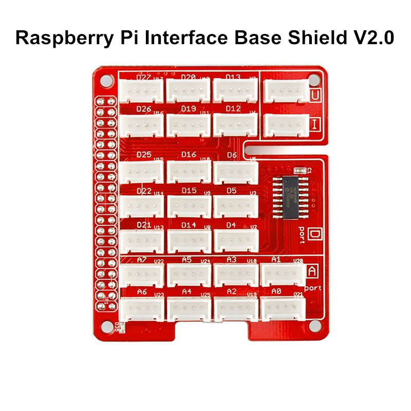Base Shield V2.0 Raspberry Pi 4B Gpio Breadboard UART/I2C/Analog/Digital Interface JST 2.0mm Connection For Raspberry Pi 3B+