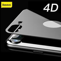 Baseus 4D חזרה מזג זכוכית סרט עבור iPhone 7 8 Ultra דק מלא מסך מגן זכוכית מחוסמת עבור iPhone 7 8 בתוספת בחזרה סרט-במגני מסך לטלפון מתוך טלפונים סלולריים ותקשורת באתר