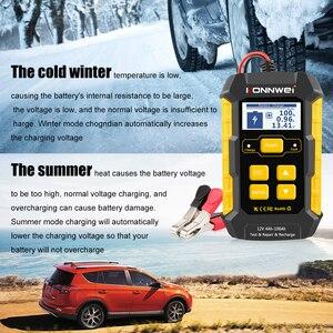 Image 3 - Konnwei kw510 testador de bateria de carro 12v carregadores de bateria automática reparação 5a bateria carregadores molhado seco chumbo ácido ferramenta de reparo de carro