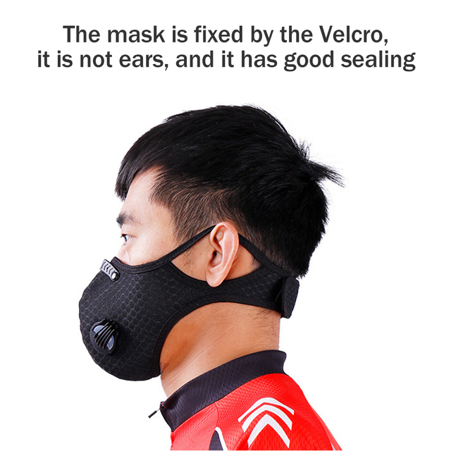 1Pcs Double Air Valve PM 2.5 Dust Mask Anti Dust Mask Anti-Bacterial Activated Carbon Filter Anti Pollution Mask Flu-proof Mask 3