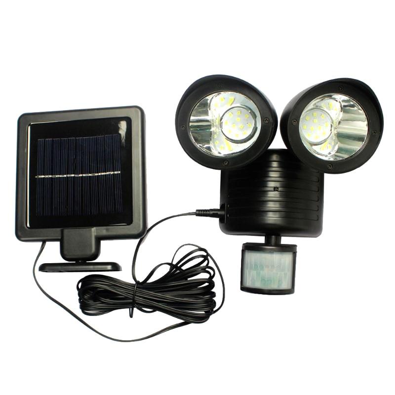 22 LED Outdoor Solar Light Dual Detector Motion Sensor Security Lighting Waterproof Street Garden LED Wall Lights Dropshipping