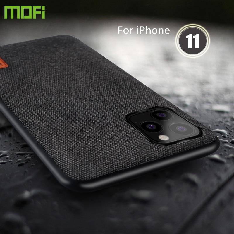 Case para iphone 5 11 pro max tampa do caso MOFi original para iPhone11 tecido à prova de choque de silicone capas apple 11 pro caso de volta