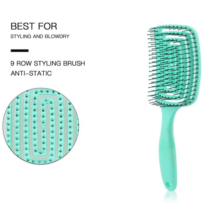 anti-estático couro cabeludo massagem ferramentas de estilo