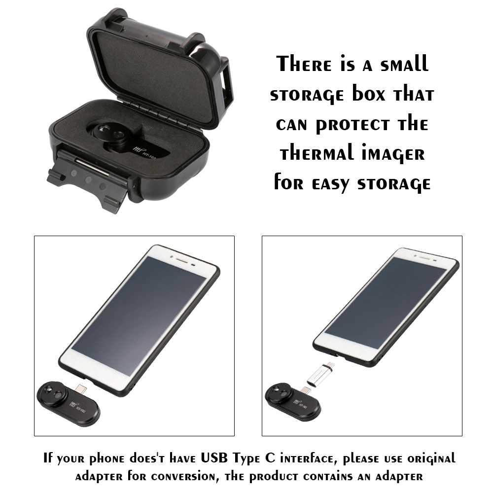 Тепловизор, термометр с функцией ночного видения, мобильный телефон, 8-14 мкм, OTG, Android, Внешняя камера, видео