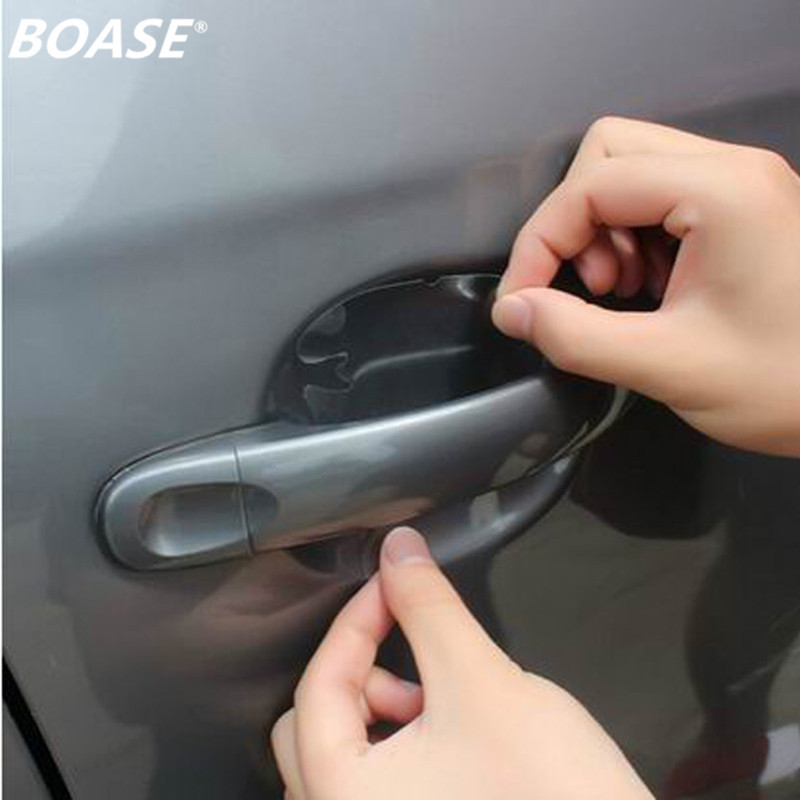 2pack=8pcs Car Accessories Universal Invisible Car Door Handle Sticker,Scratches Automobile Protector Anti-scratch Films