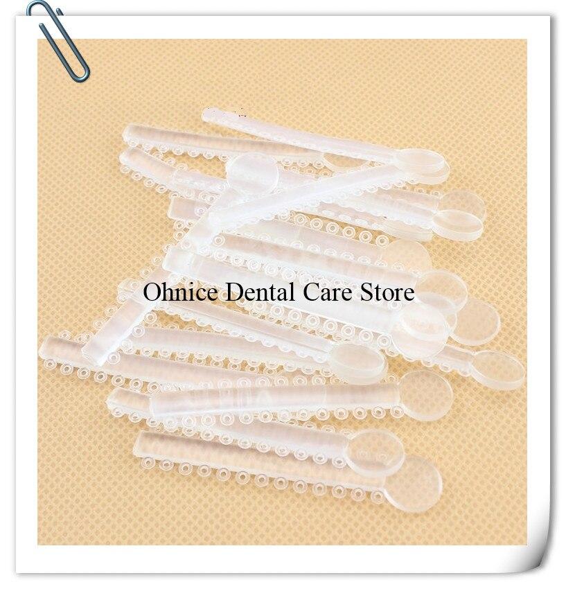 200pcs Dental Elastic Ligature Tie Dental Orthodontic elastic Rubber O style elastic ligature tie Power Chain/Rubber band(China)
