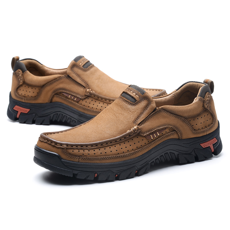 Fashion Genuine <font><b>Mens</b></font> <font><b>Shoes</b></font> Casual Leather <font><b>Men</b></font> Boat <font><b>Shoes</b></font> Male Sneakers Office Outdoor Footwear Chaussures Comfortable Size 38-50 image