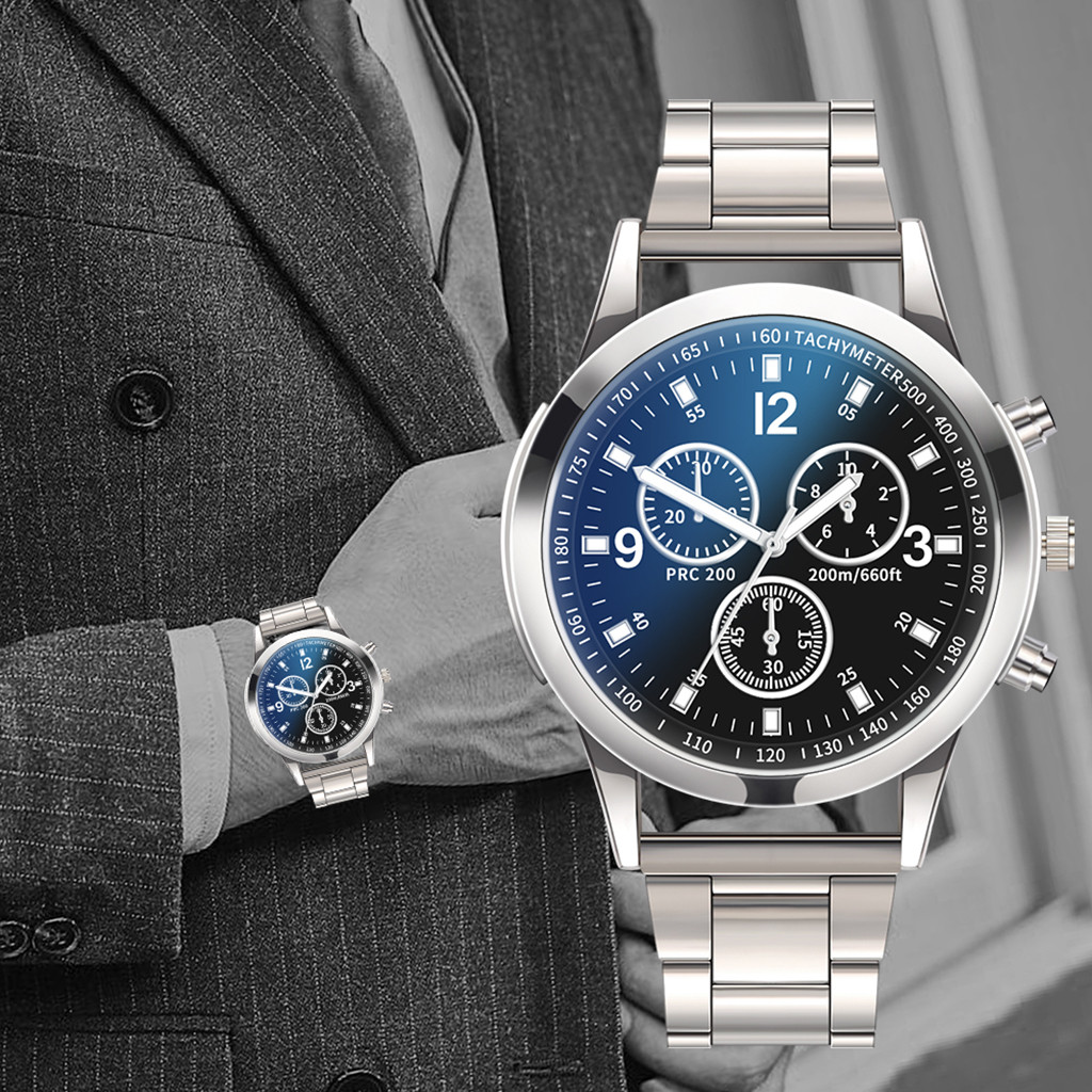 Men Luxury Watches Quartz Watch Stainless Steel Dial Casual Bracele Watch Sports Quartz Wristwatch clock relogios masculinos
