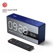 דידו X9 Bluetooth נייד סופר בס אלחוטי מראה שלט רחוק TF רדיו רמקול 3D דיגיטלי צליל רמקול Handfree מיקרופון