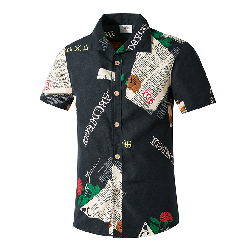New Fashion Men's Beach Shirts Quick Dry Hawaii Holiday Casual Board Shorts Print Floral Loose Shirts Male Sets Plus Size
