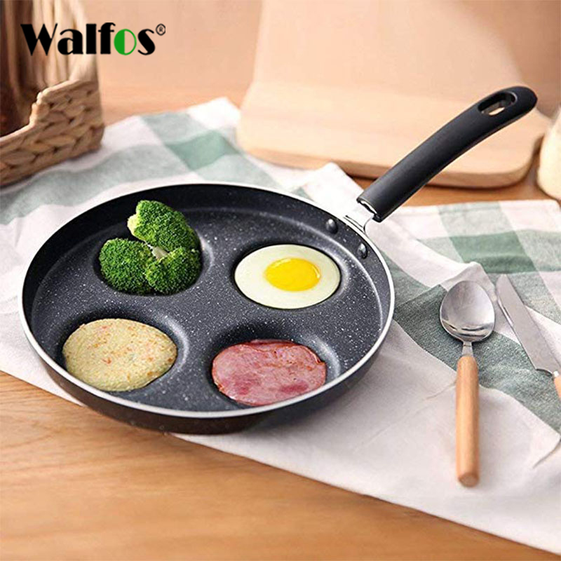 WALFOS Non-Stick Copper Frying Pan with Ceramic Coating Induction Cooking Oven Dishwasher Safe Kitchen Accessories Cooking Tools