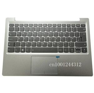 Novo original para lenovo ideapad 320s-13 320s-13ikb 7000-13 uk apoio de mãos superior teclado moldura capa prata 5cb0q17551