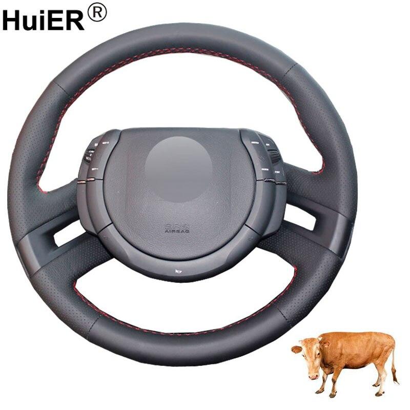 Main couture voiture Volant couverture Volant haut cuir de vache Funda Volante pour Citroen C4 Picasso 2007 2008 2009 2010 2012 2013
