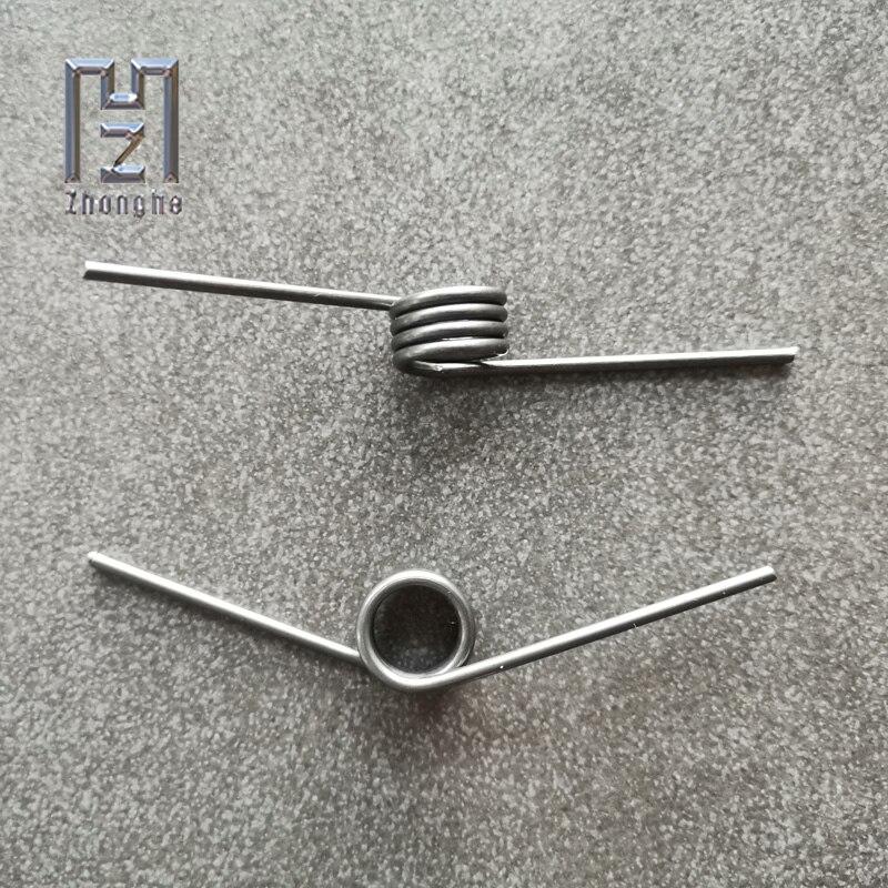 Нержавеющаясталь с торсионной пружиной высокая прочность V-образный провод Диаметр 2,0 мм внешний Диаметр 14,7 мм угол Длина 40 мм торсионная п...