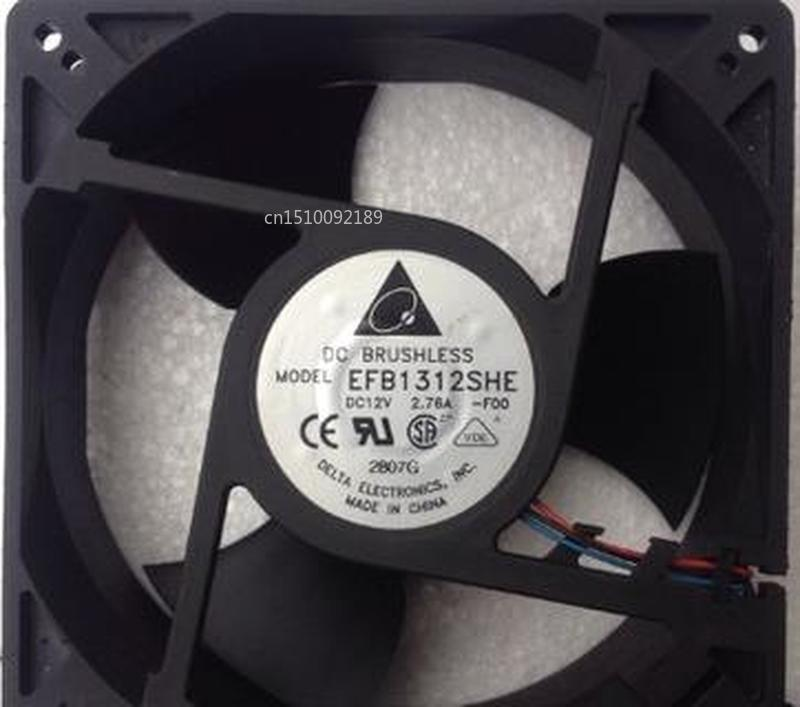 For Original Delta EFB1312SHE -FOO DC12V 2.76A 127*127*38mm 3 Line Air Fan Speed Free Shipping