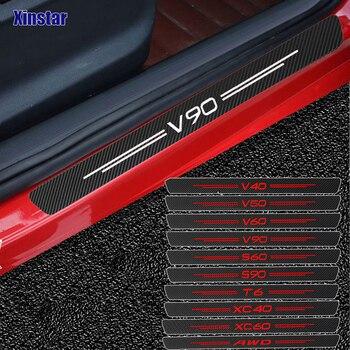 4PCS carbon fiber Stickers Vinyl Sport Stickers Decals for Volvo S60 XC90 V40 V50 V60 S90 V90 XC60 XC40 AWD T6 Accessories window visor vent shades sun rain guard 4pcs for volvo xc60 2009 2015