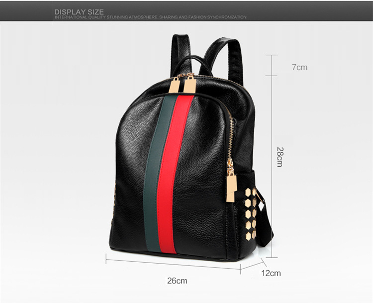 H117897f5918345628aa2524df239780aN Luxury Famous Brand Designer Women PU Leather Backpack Female Casual Shoulders Bag Teenager School Bag Fashion Women's Bags