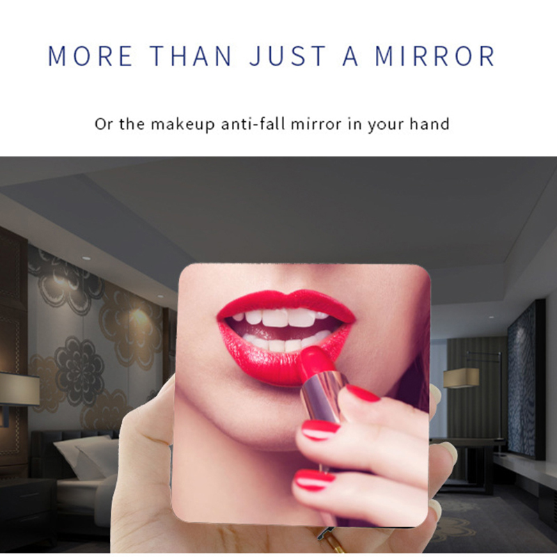 LED Mirror Alarm Clock with Dimmer and Snooze Function along with Temperature Display for Bedroom Office and Travel 2