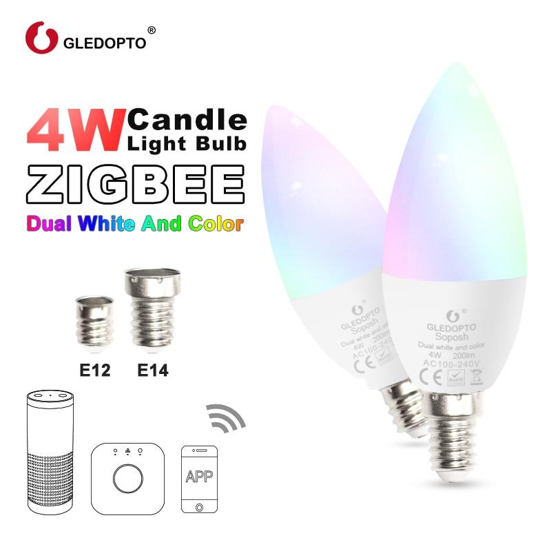 Декоративные свечи RGBCCT Ambiance совместимы с G светодиодный OPTO zigbee светодиодный умный светильник 4 Вт E12/E14 с регулируемой яркостью с Amazon Echo Plus AC