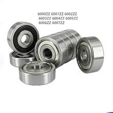 10pc/lot Miniature Ball bearing 6000ZZ 6001ZZ 6002ZZ 6003ZZ 6004ZZ 6005ZZ Deep Groove Steel Sealed Motor bearing parts цены