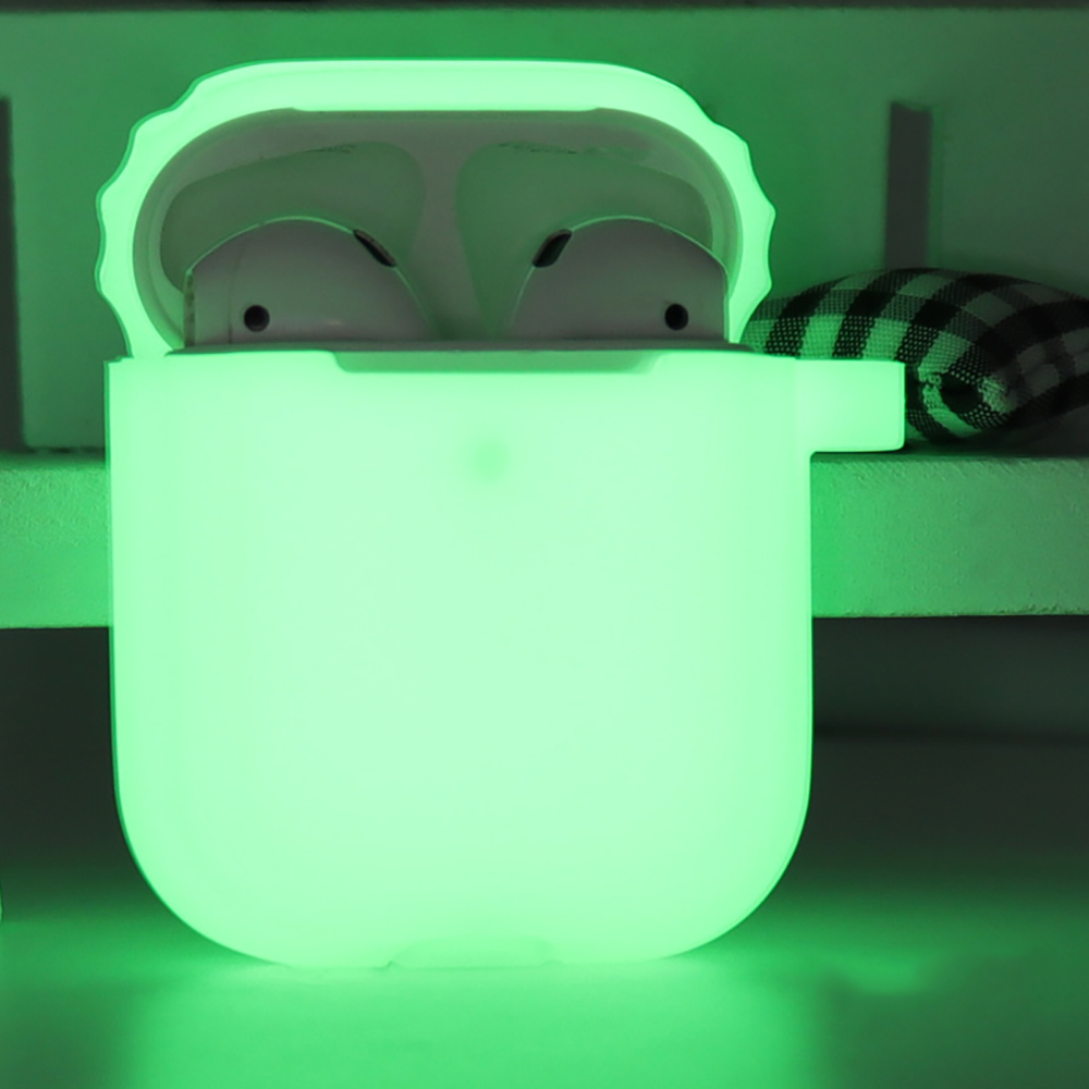 Glowing In Dark Silicone Case For Apple AirPods 1 2 Luminous Shockproof Protector Sleeve For AirPods 2 Earphone Box Accessories