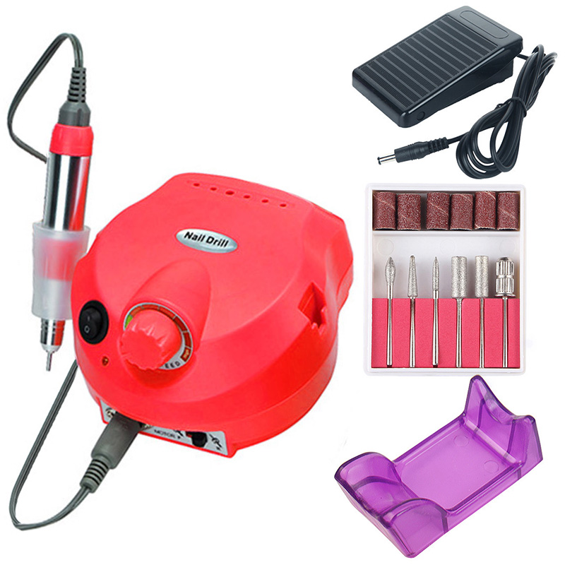 35000 20000 RPM Electric Nail Drill Machine Manicure Set Pedicure Tips Polishing Equipment Miling Cutters File Left Hand Tools