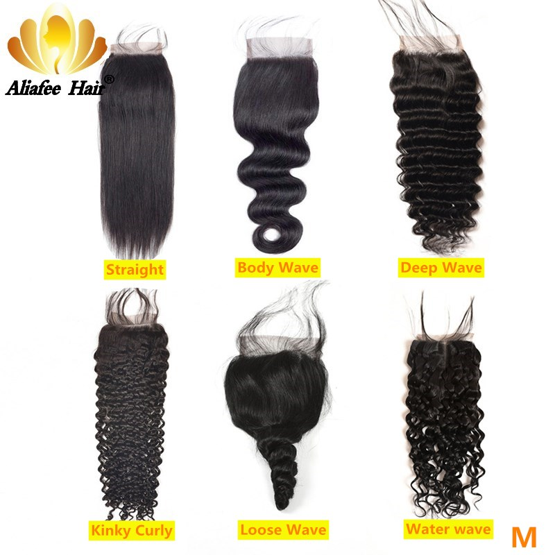 Aliafee Hair Brazilian Hair 4x4 Lace Closure 8