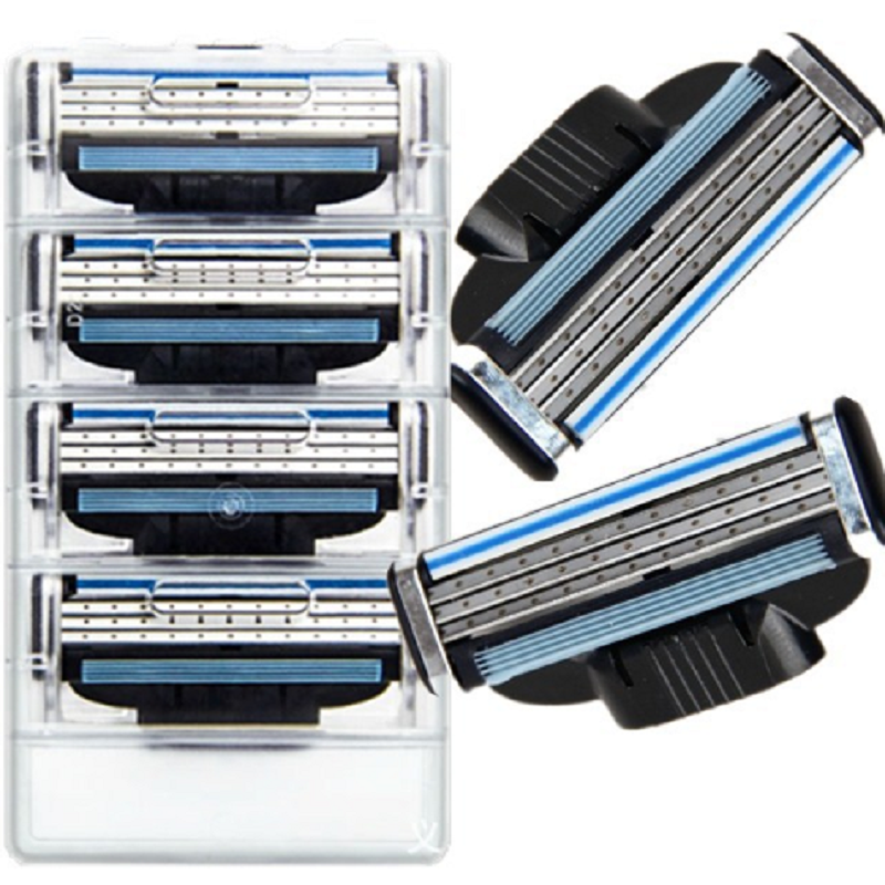8pcs/pack Men's Safety Razor Blades Face Care Shaving Blades Manual Shaving Cassette For Gillettee Mache 3