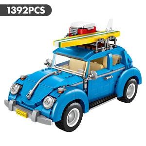Image 2 - לוז טכני מיני אבני בניין רכב Assemable צעצועים חינוכיים לילדים חיפושית Creatored משטרת משאית רכב צעצועי לבנים