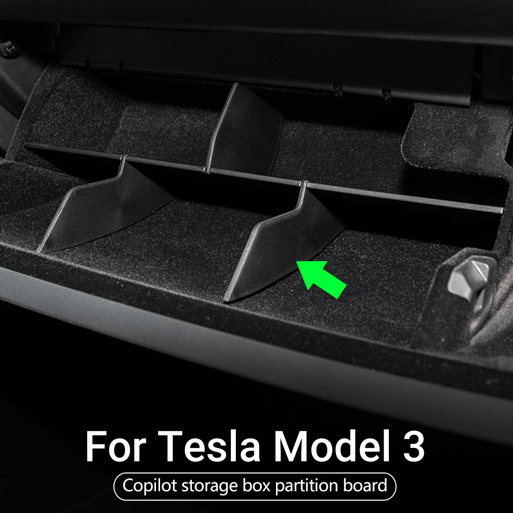 cheapest Model3 Tesla Car Copilot Storage Box For Tesla Model 3 Accessories Layered Sorting Board Tesla Model Y Model Three 2017-2020