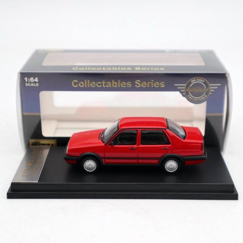1:64 Automint Jetta GT литье под давлением, металл, ограниченная серия, красные игрушки, машины