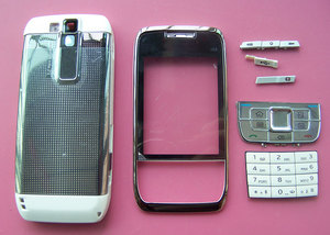 Image 3 - New Full Housing Cover Case AND Keypad Keyboard for Nokia E66 White Grey