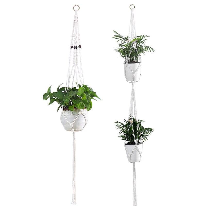 Цветок подставка комнатный% 2C растение вешалка макраме цветок горшок держатель шнурок подвес кашпо корзина хлопок веревка для дома украшения