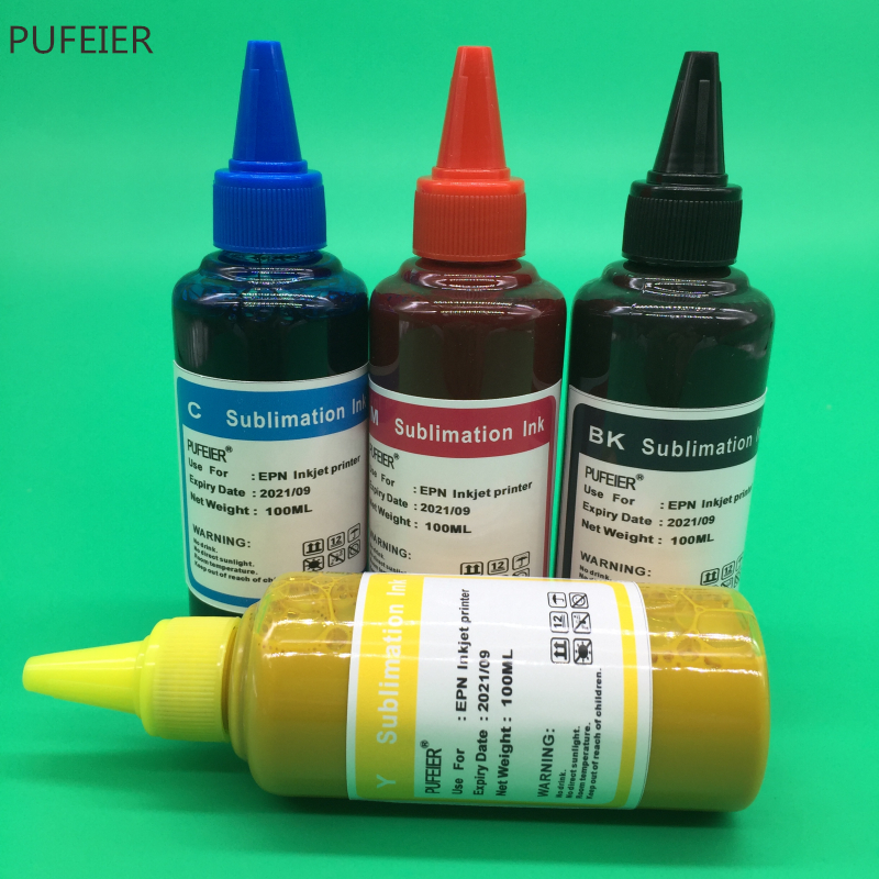 Image 5 - 4 Color x 100ML Universal Sublimation Ink For Epson Desktop Inkjet Printer BK C M Y High Quality-in Ink Refill Kits from Computer & Office
