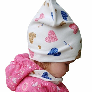 new winter baby boys girls turban hats knotted beanies caps indian children baby hat infant gift accessories Baby Hat Infant Caps Cotton Scarf Baby Beanies Love Heart Print Spring Autumn Children Hat Scarf Set Baby Girls Hats Photo Props
