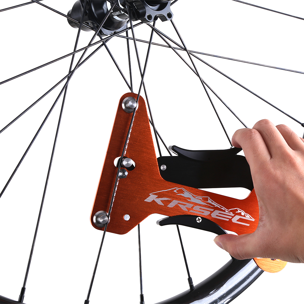 KRSEC Bike Indicator Attrezi Meter Tensiometer Bicycle Spoke Tension Wheel Builders Tool Bicycle Spoke Repair Tool