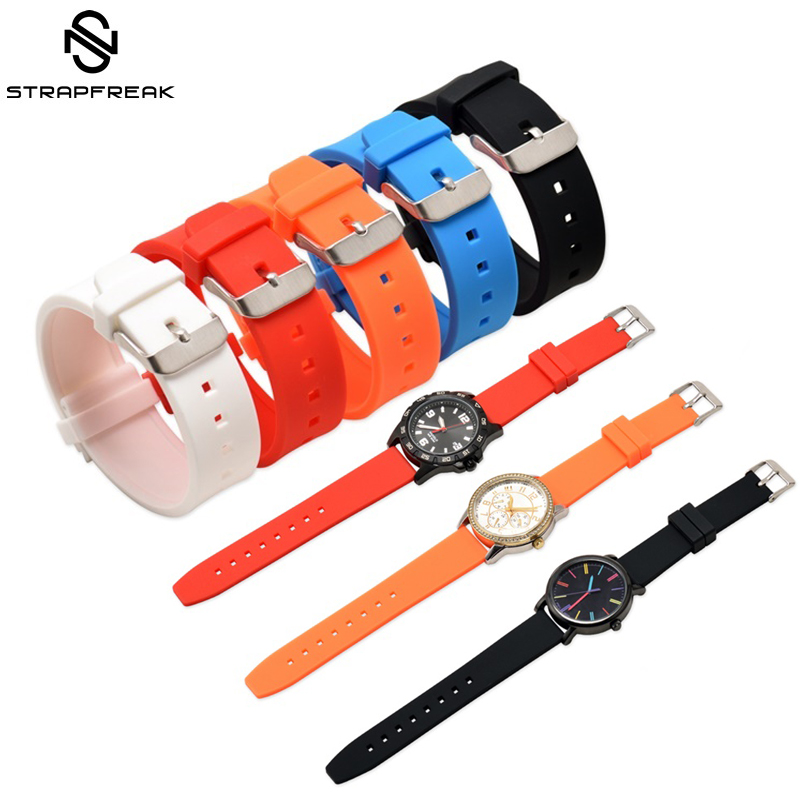 Generic Watch Straps 16mm 18mm 20mm 22mm 24mm 26mm 28mm Silicone Rubber Watch Band Wrist Belt Bracelet For Men