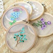 Diy bordado flor pintura interessante artesanato kits de material diy iniciante bordado bordado kit ponto kit