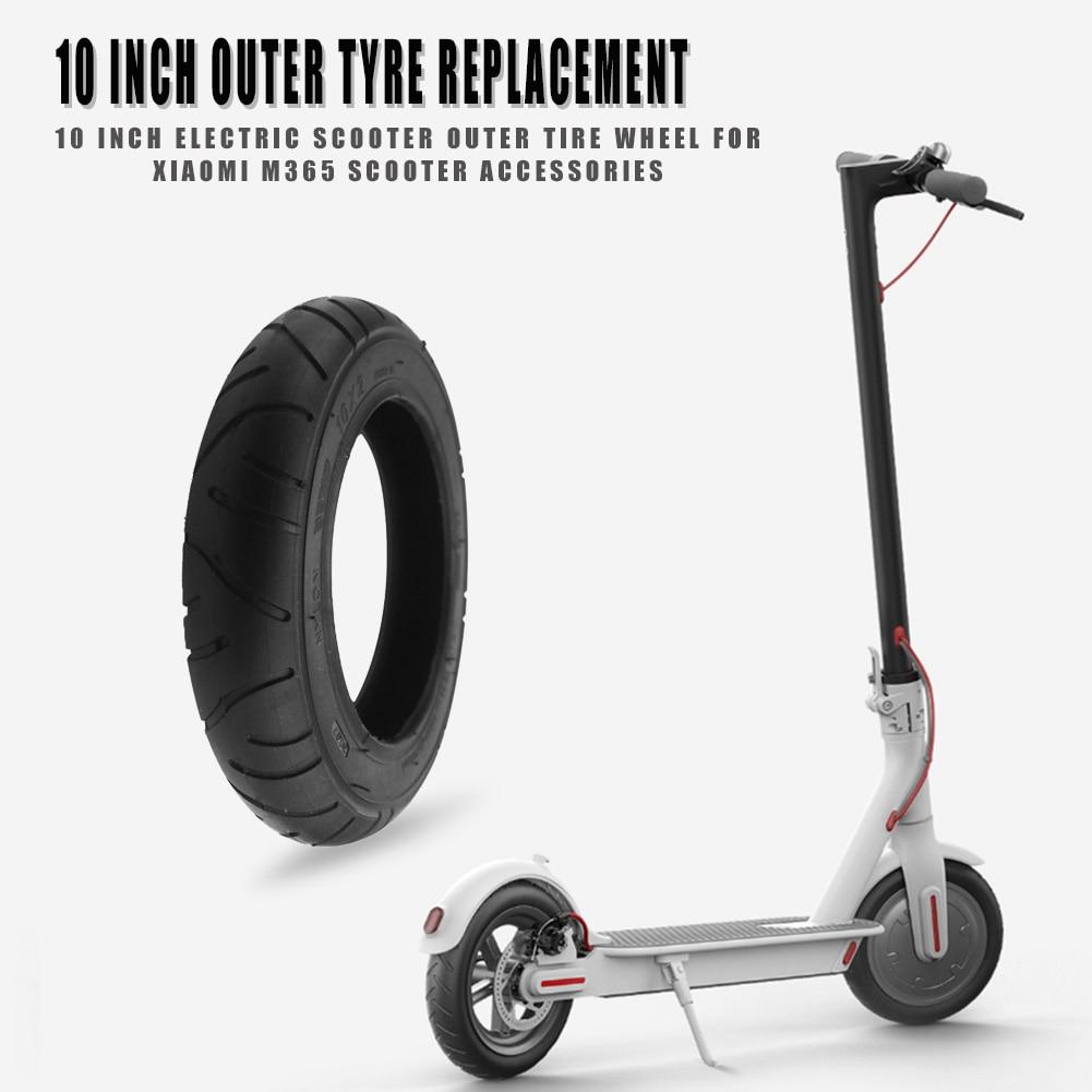 Remplacement de pneu de roue de pneu extérieur de Scooter électrique de 10 pouces pour les accessoires de Scooter de Xiaomi M365 Pro épaissir les pneus en caoutchouc de Scooter