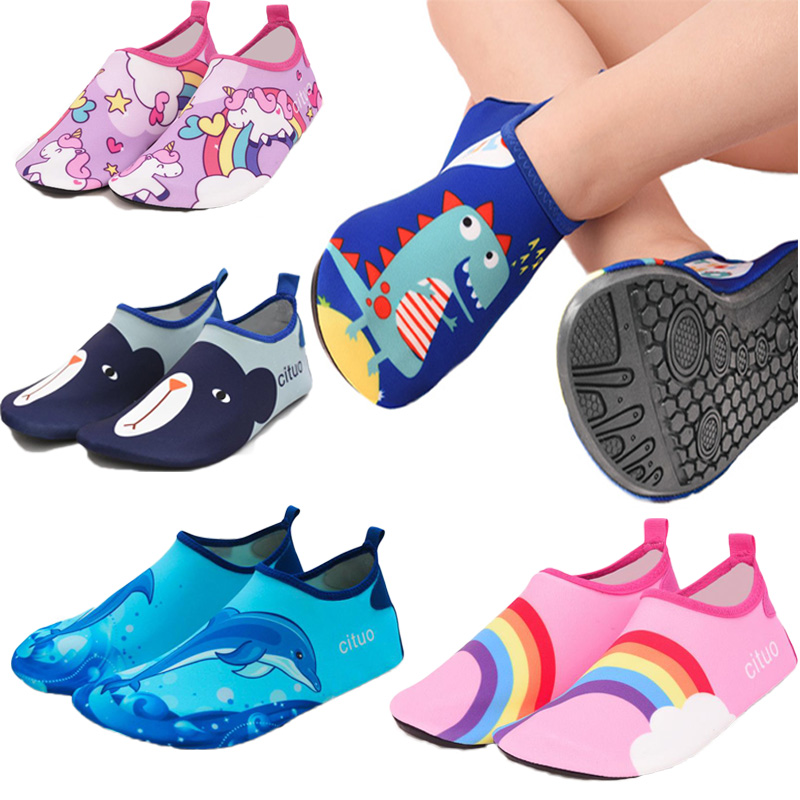 Barefoot Kids Children Beach Shoes Water Socks Boys And Girls Home Shoes Outdoor Swimming  Shoes Cute Cartoon Kids Slippers